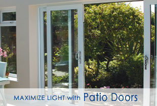 Light and bright patio doors